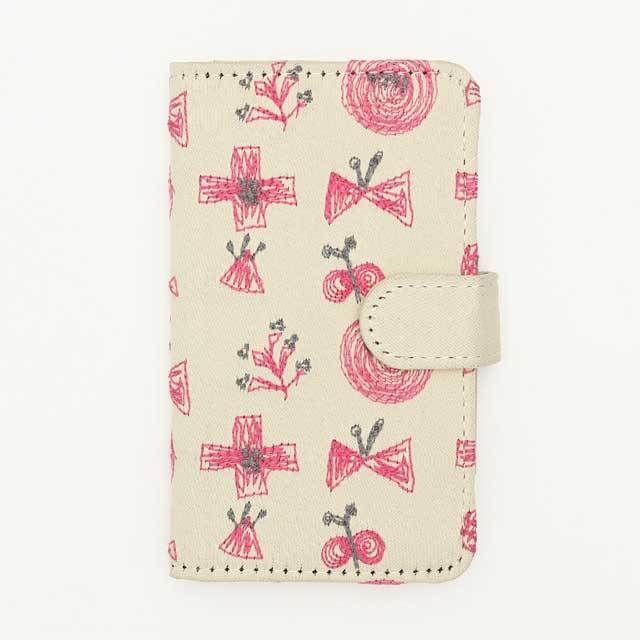 北欧刺繍 スマホケース サクトブ(ベージュ)