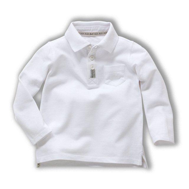 FRANCE有名ブランドOKAOUオカオウ長袖白ポロシャツ