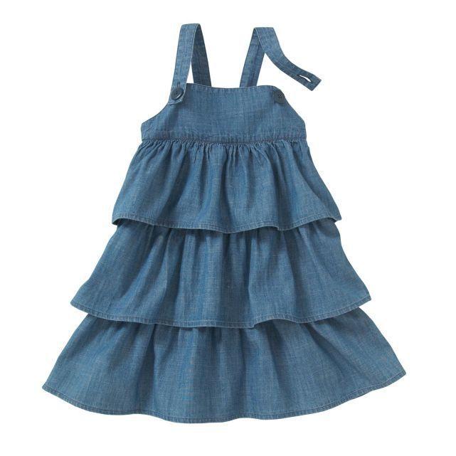 FRANCE有名キッズブランドOKAOUオカオウのデニムサロペットドレス
