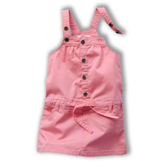 フランスOKAOUオカオウのピンク サロペットドレス ジャンパースカートワンピース