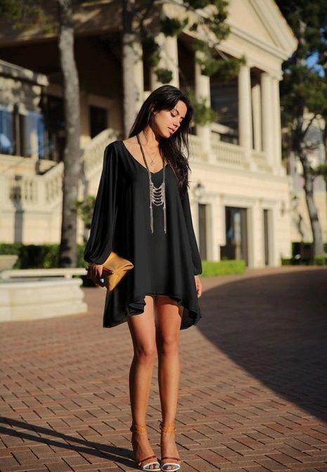 海外インポートセレクトブラックシフォンポンチョデザインワンピースドレス