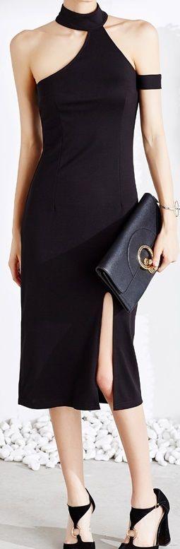 海外 インポート ブラック タートル デザイン タイト ワンピース パーティー ドレス