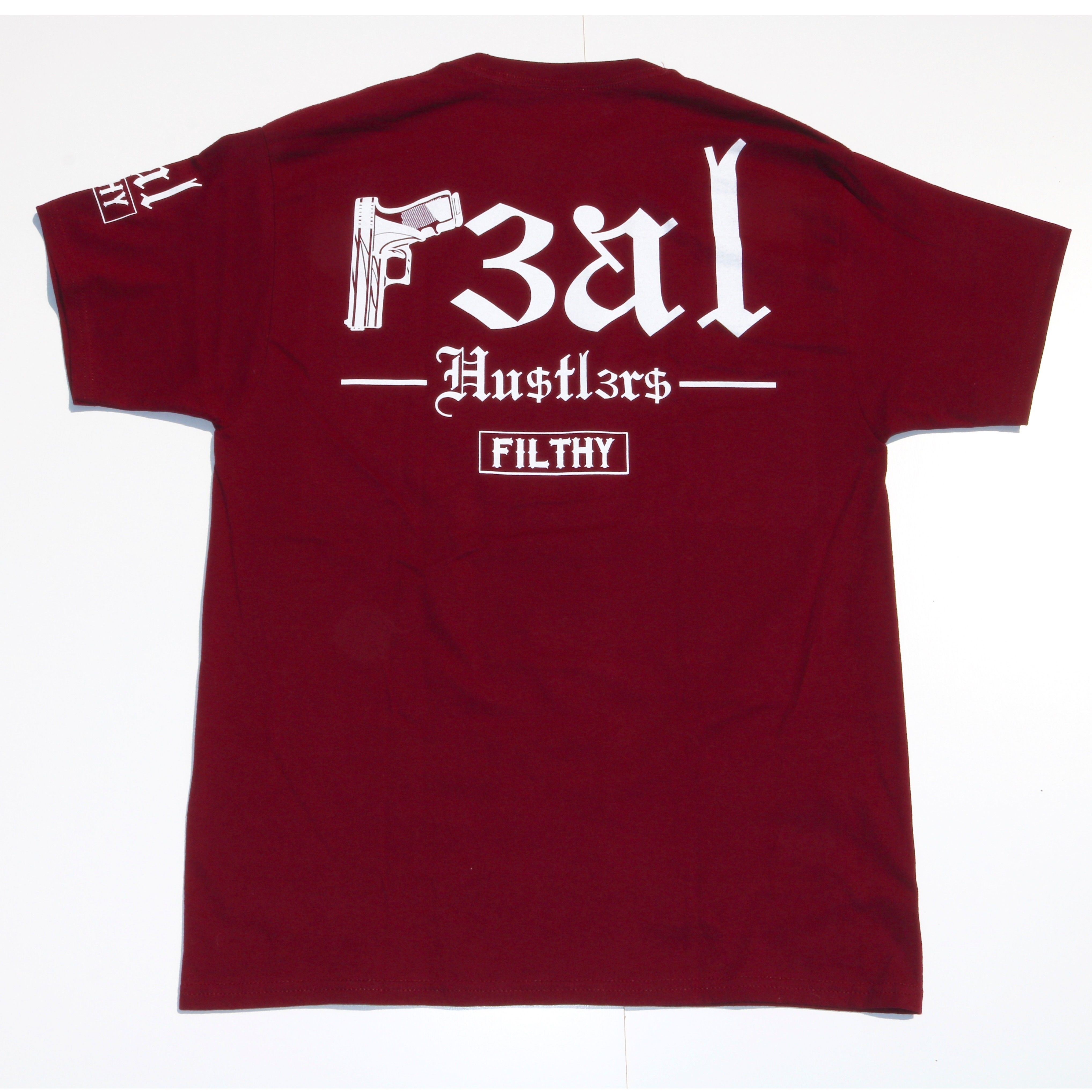 FILTHY HAWAII   Real Hustlers TSHIRTS バーガンディー/ ホワイト