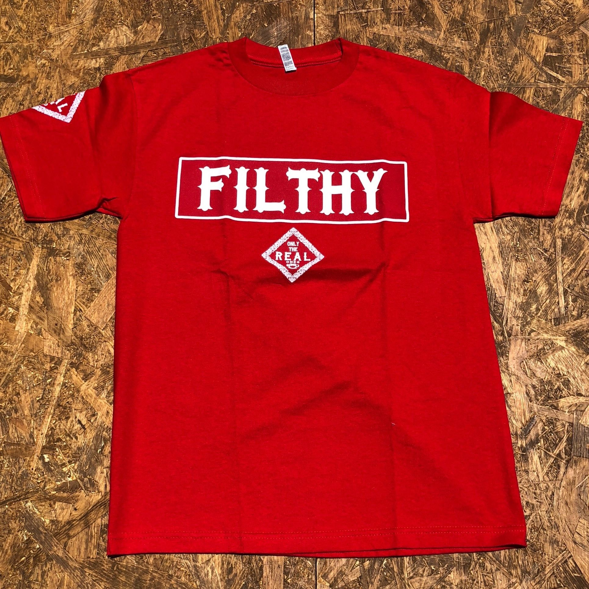 FILTHY HAWAII  TSHIRTS レッド/ホワイト