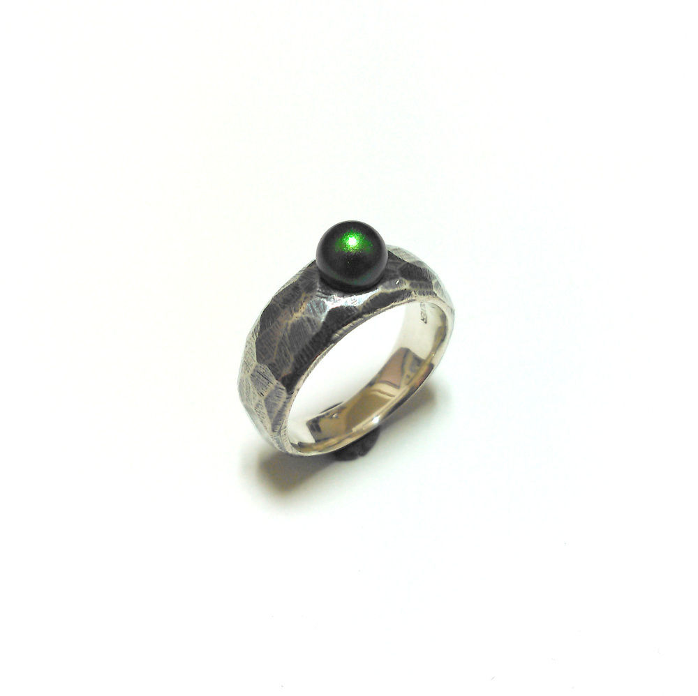 Monolith Ring w/Crystal Pearl(受注制作)