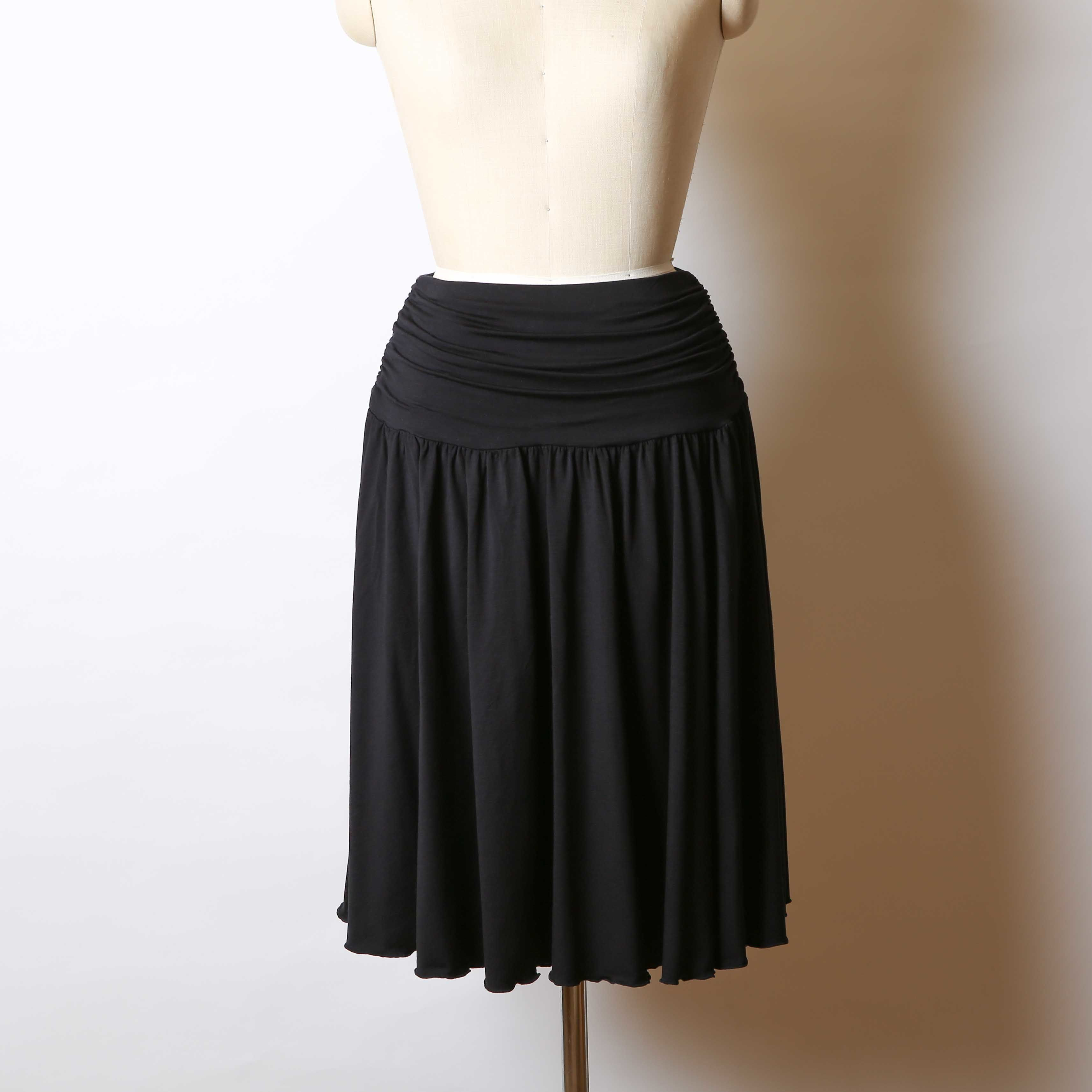 フレアギャザースカート/161K009(C.ブラック)
