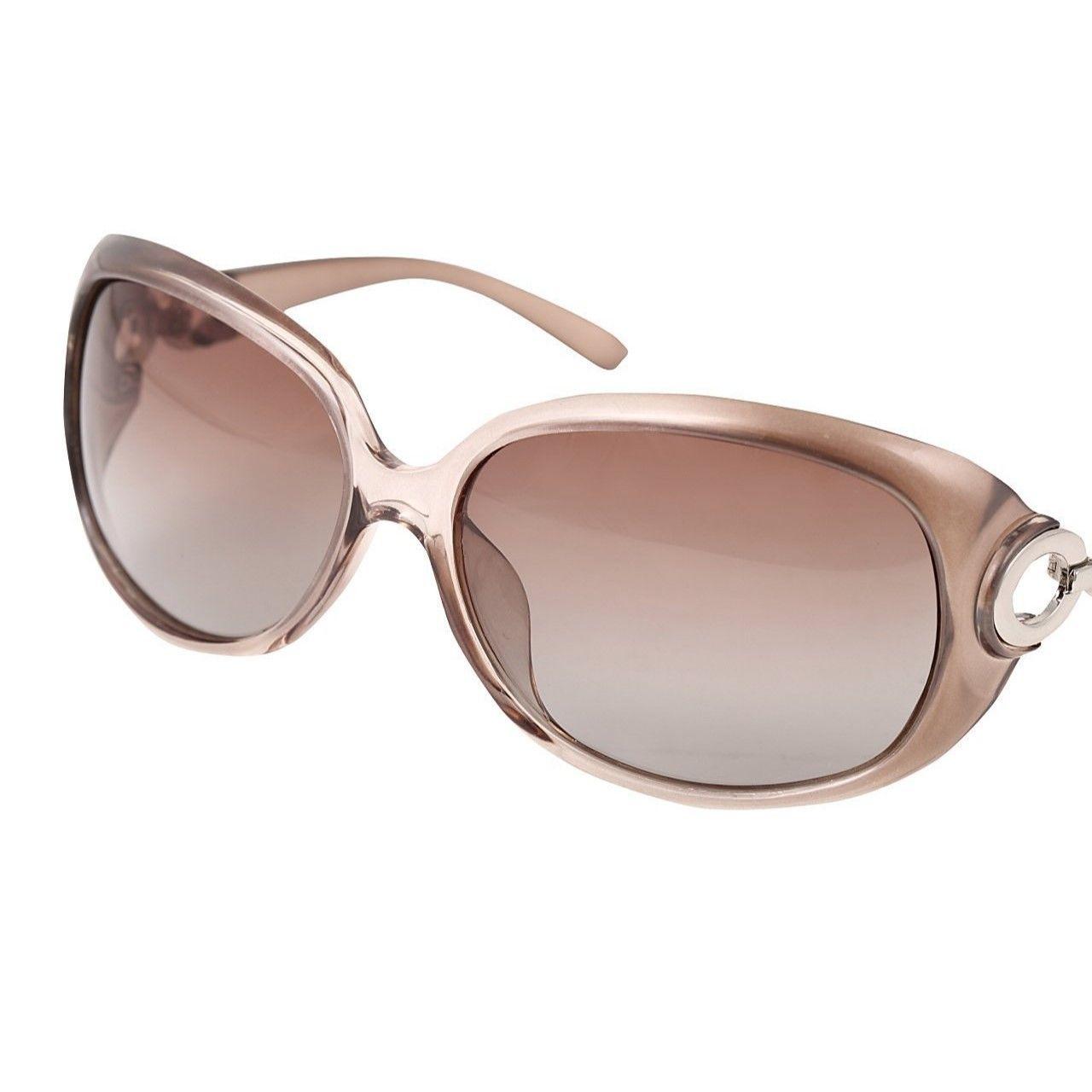 レディース サングラス バタフライ UV400 紫外線 カット率99.9 % UVカット 偏光レンズ (2シャンパン)