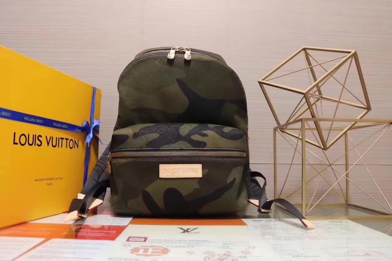 (シュプリーム)SUPREME ×ルイヴィトン LOUIS VUITTON コラボバッグ リュックサック バックパック supreme/LV 男女兼用鞄 迷彩 リュックバッ