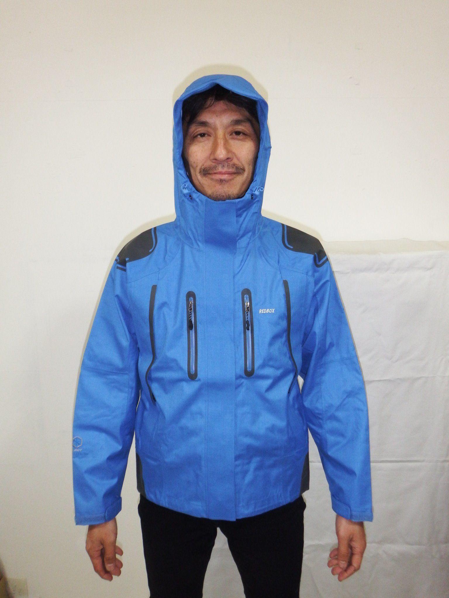 19 USREDBOXマウンテンジャケット2.5L ゴアテックス同素材青M