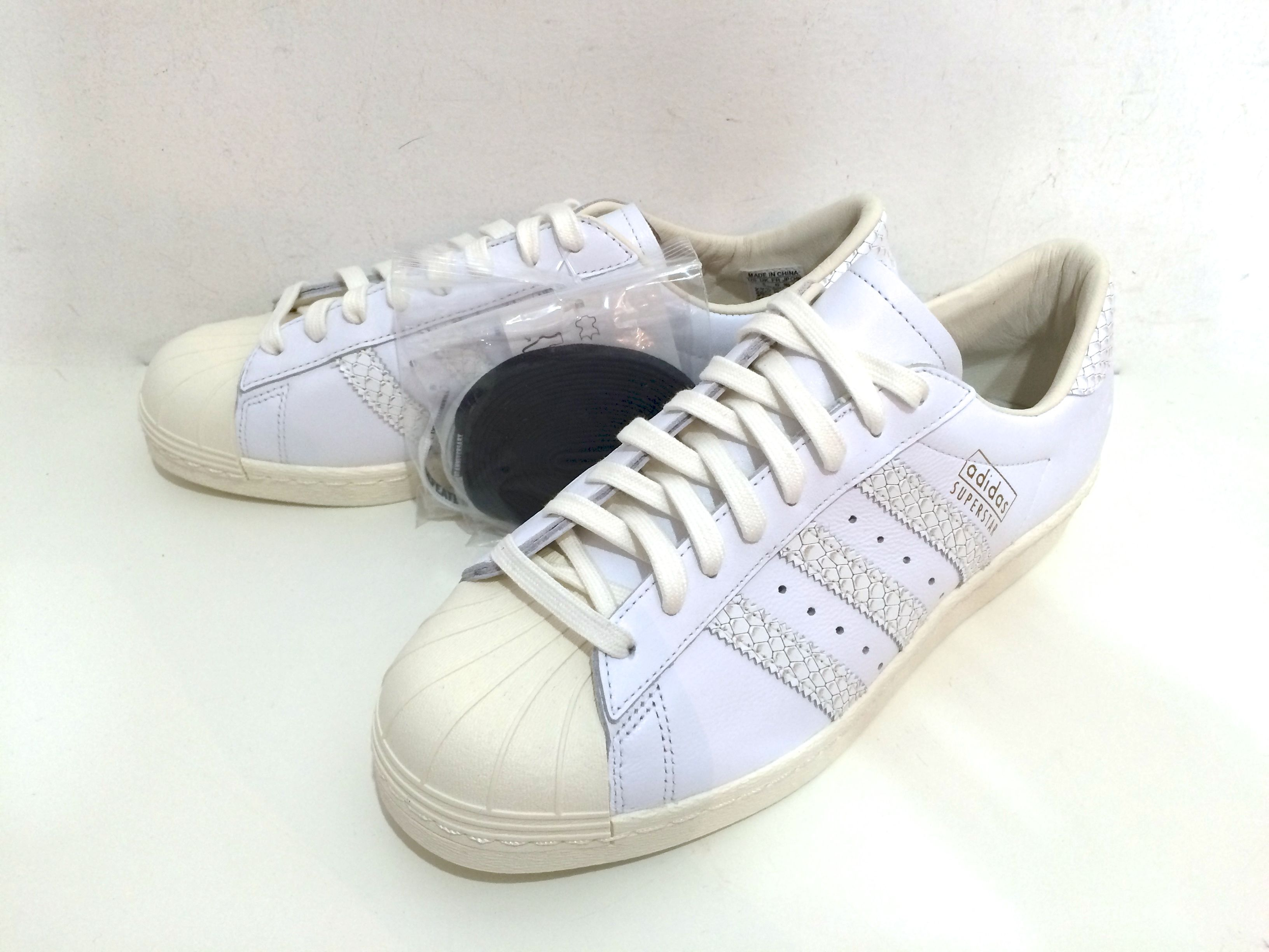 """adidas / ×UNDEFEATED, CONSORTIUM SUPERSTAR 80 """"10TH ANNIVERSARY"""" size : US8.5 WHT """"2015S/S"""""""