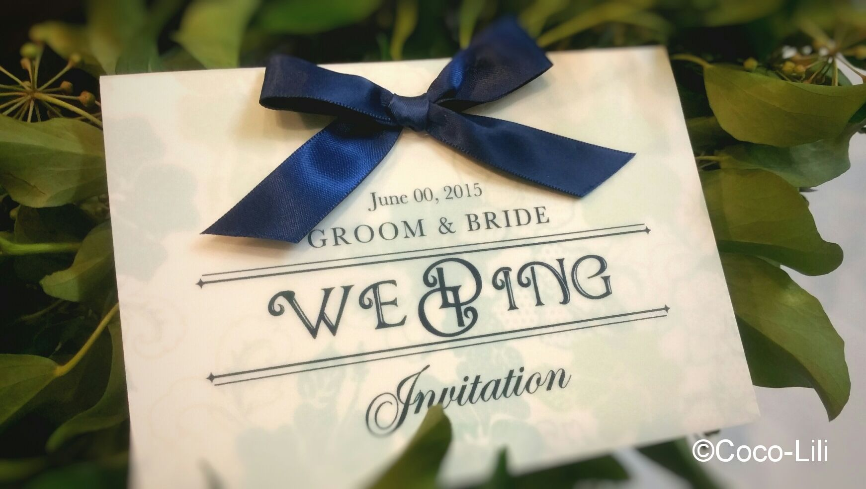 Wedding invitation [flower] 30セット印刷・送料込み