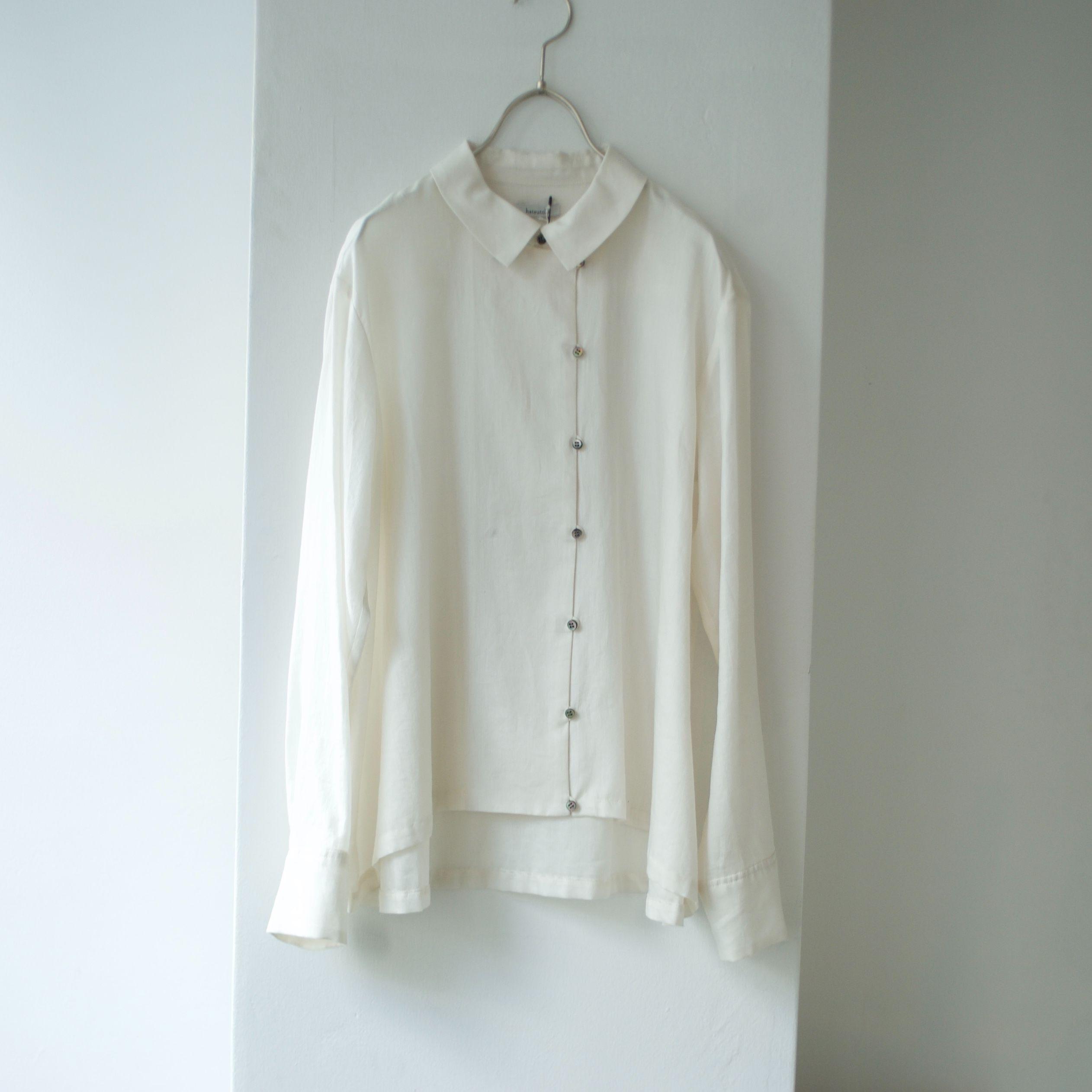 hatsutoki/ツイルシャツ(white)
