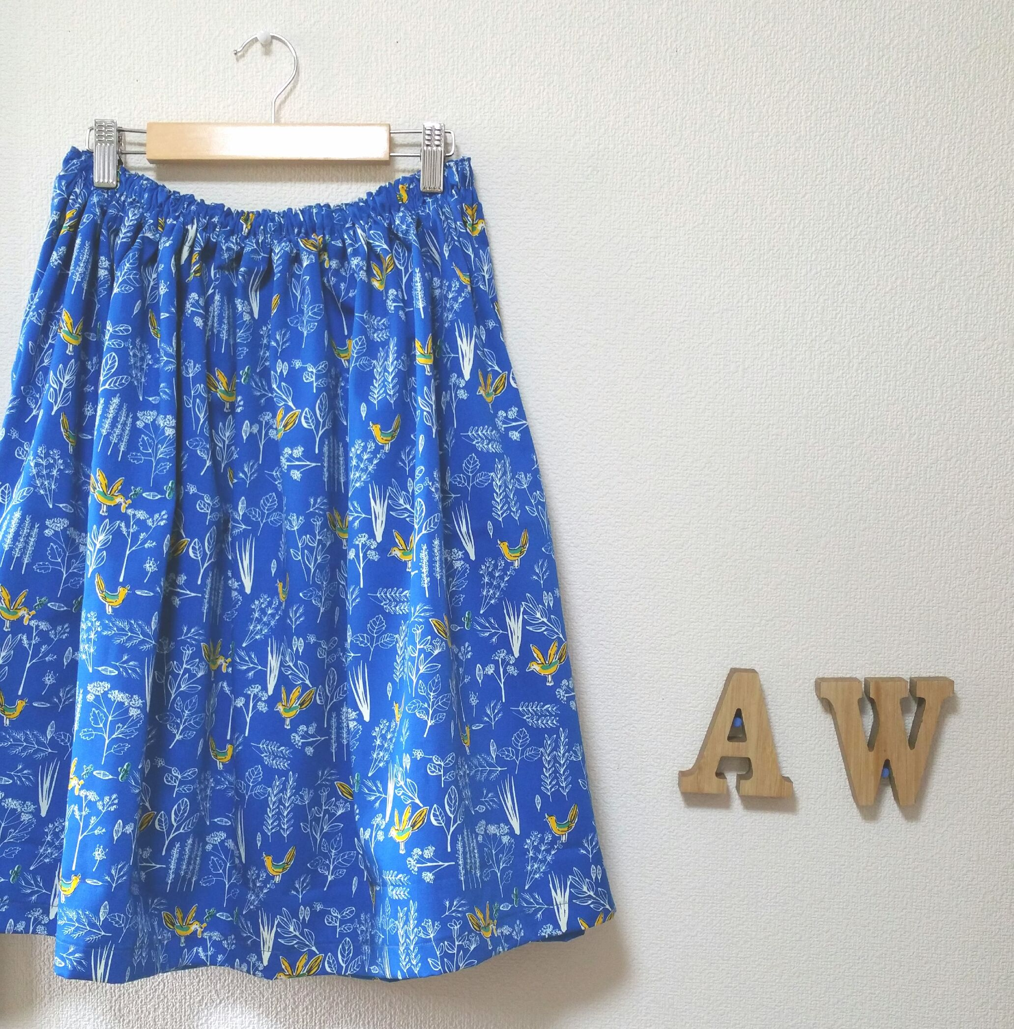 yellow bird*ギャザースカート