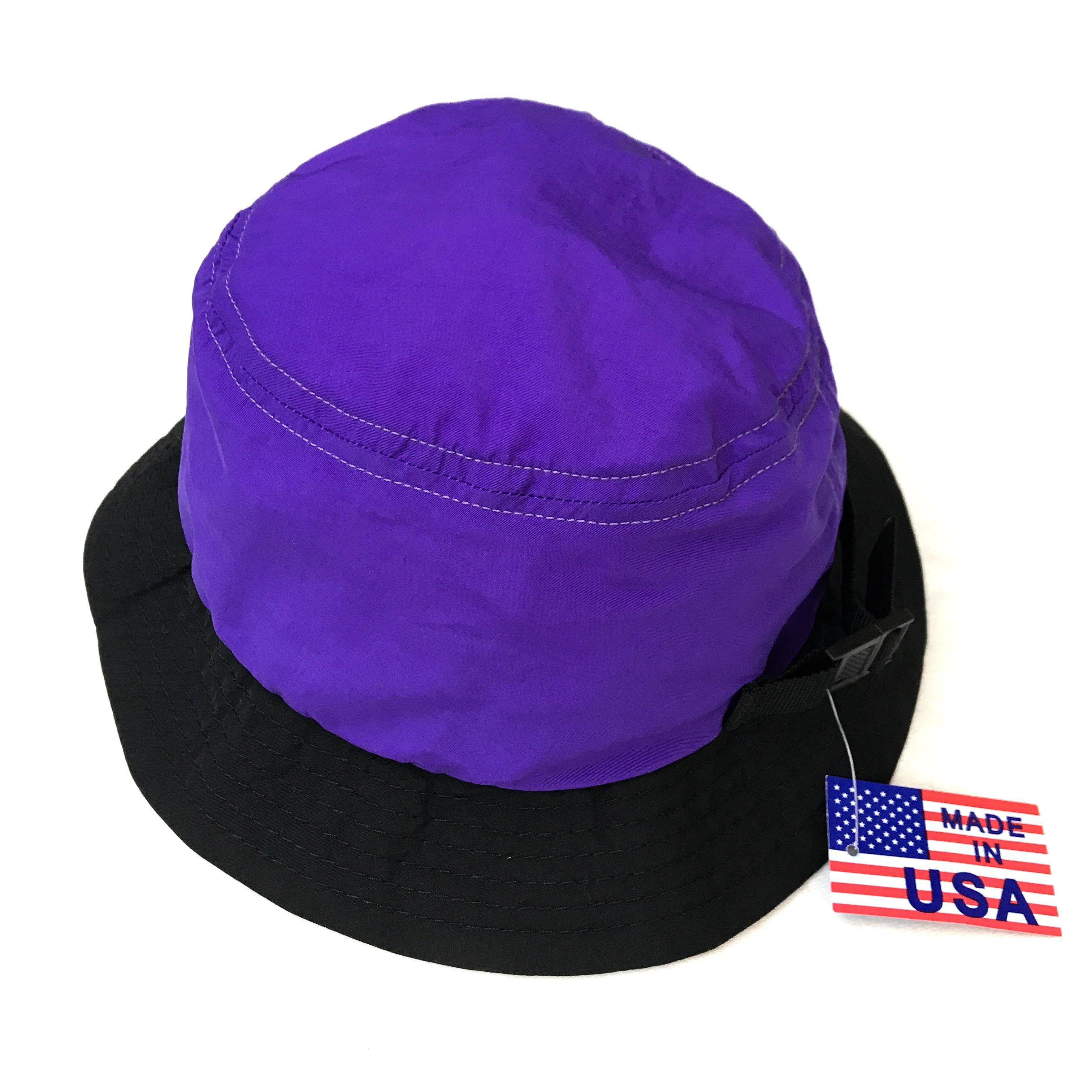Made in USA / NEC / Nylon Bucket Hat / Purple × Black