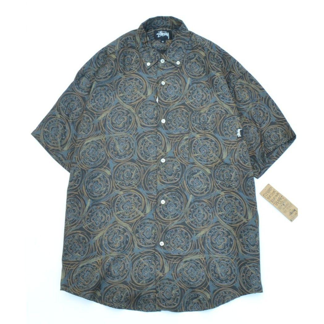 Stussy 80s Dead Stock/S/S B.D.Shirt Small
