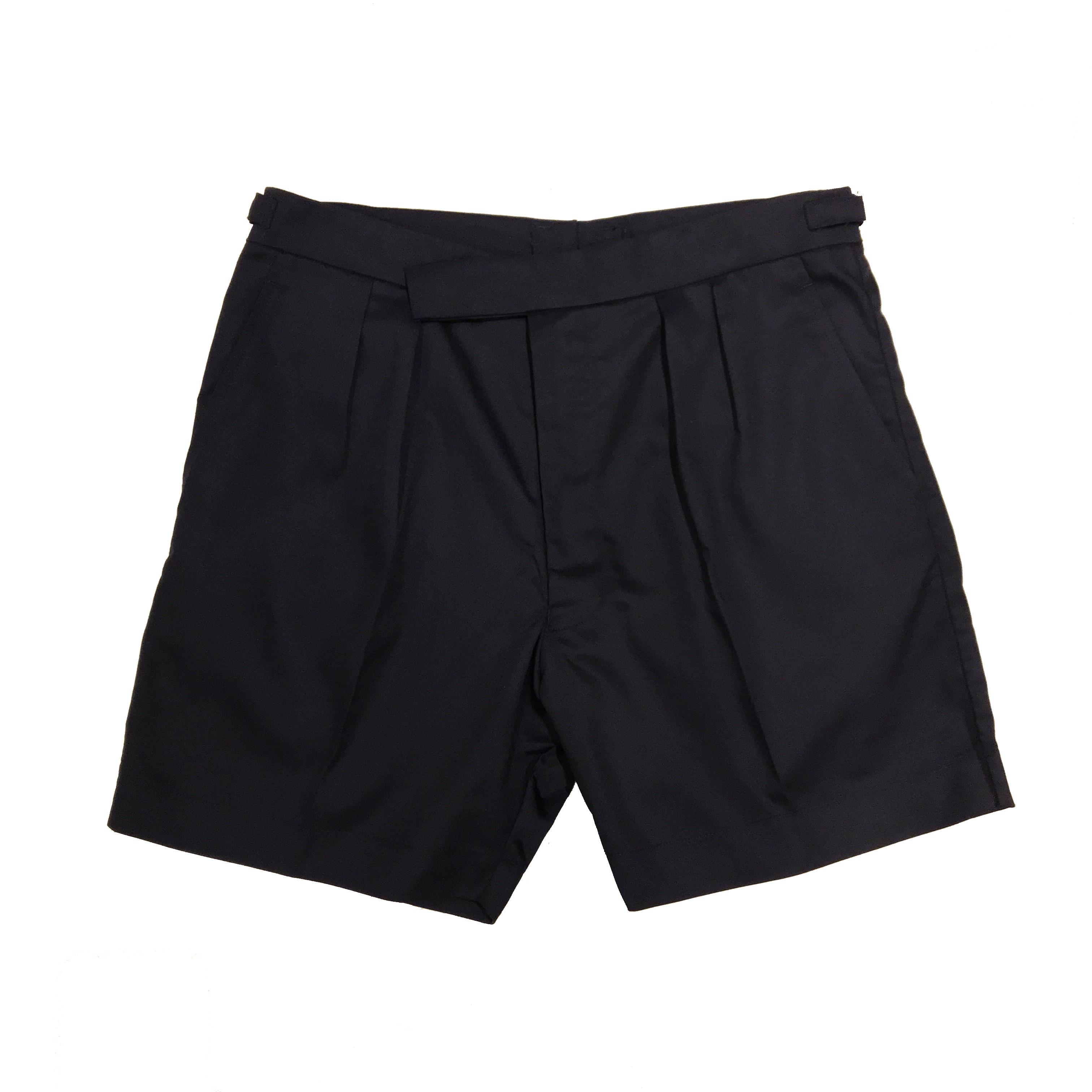 """British Navy """"Dead Stock"""" 2 Tuck Shorts / Navy"""