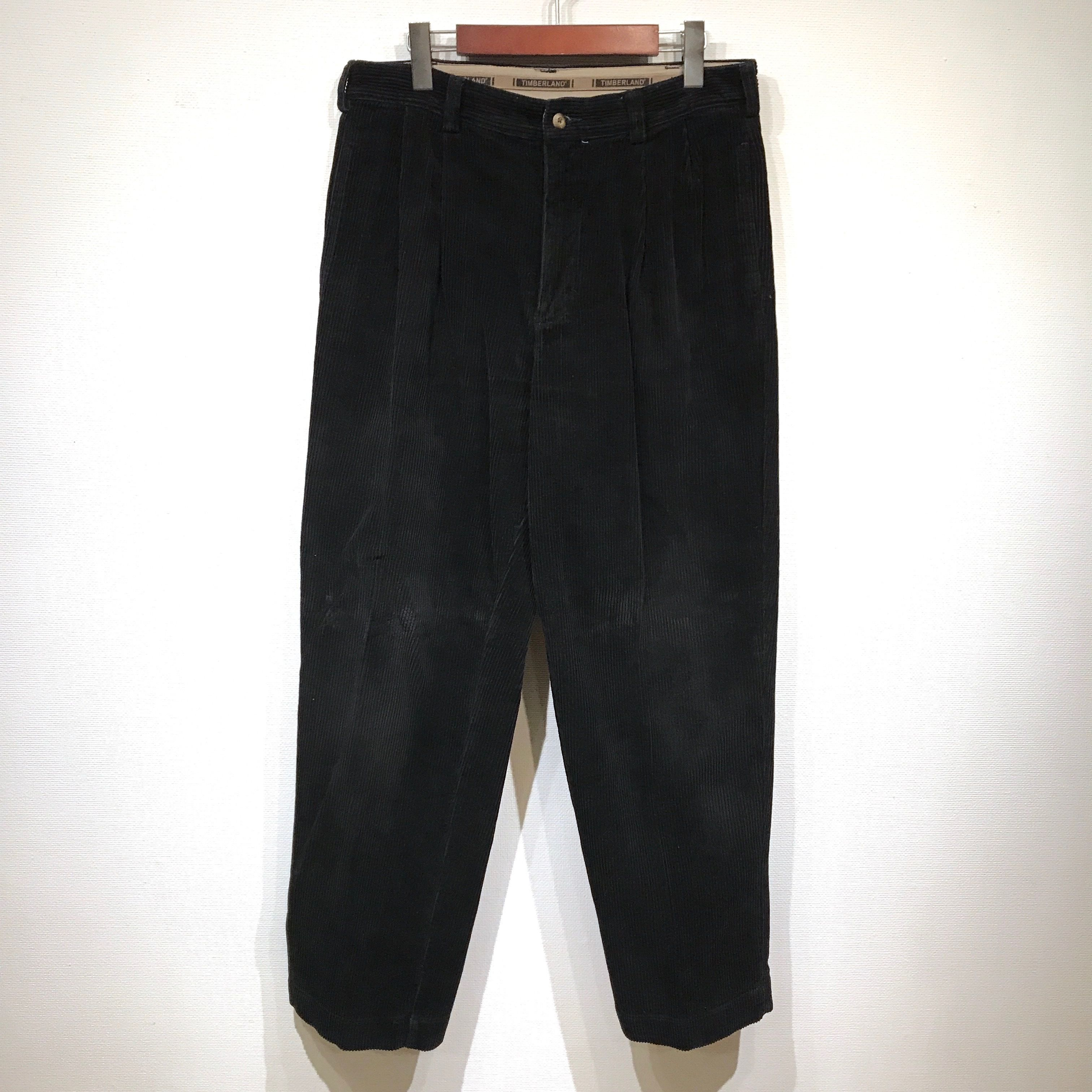 Used Timberland / 2 Tuck Cotton Corduroy Pants / Navy