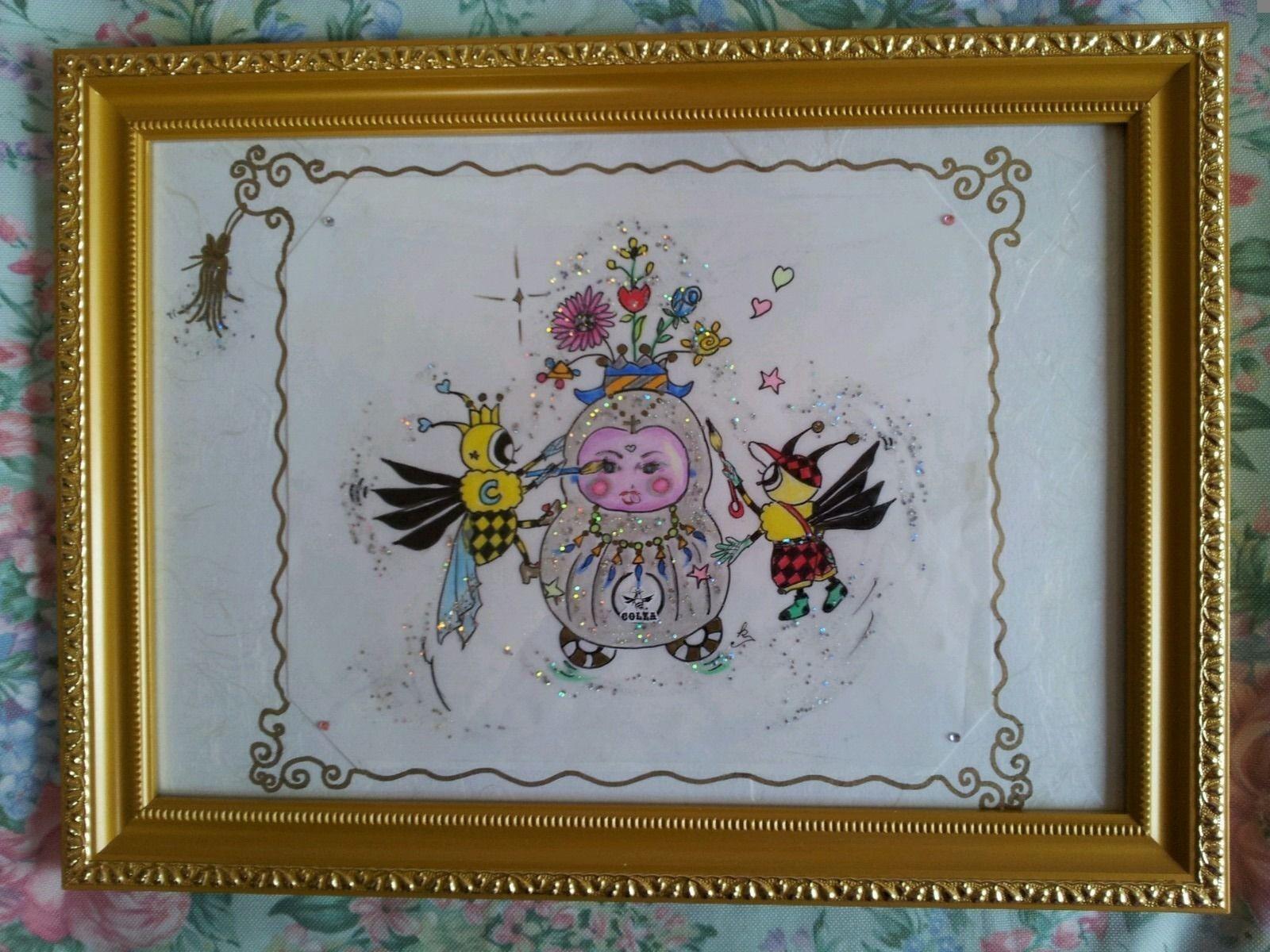 ミツバチのヒーリング絵画(イラストブック)