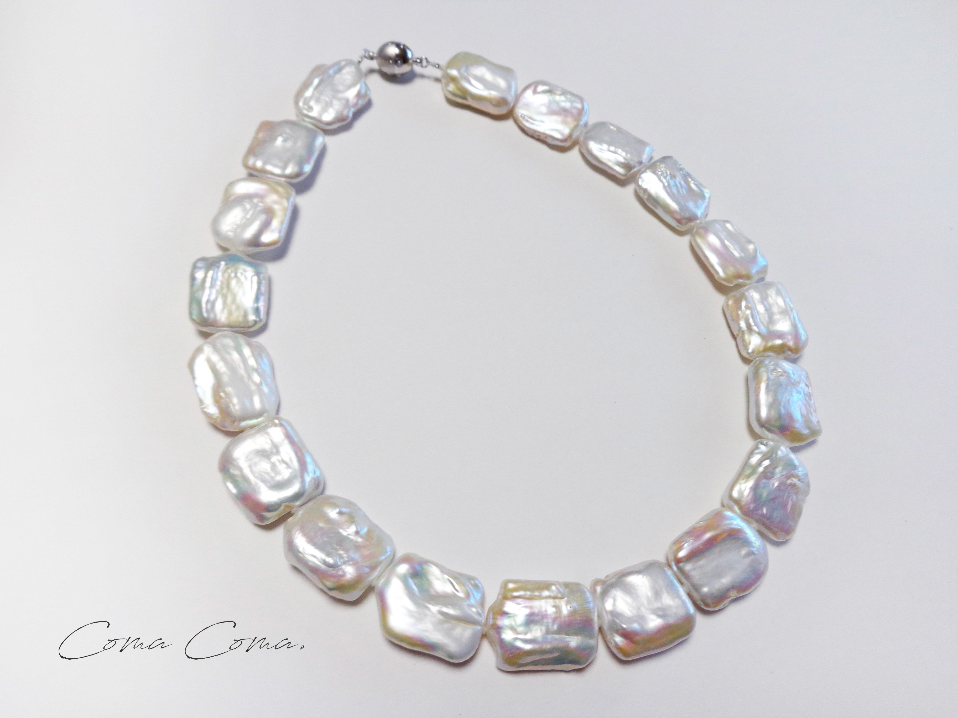 ?rectangle necklace  ~white~