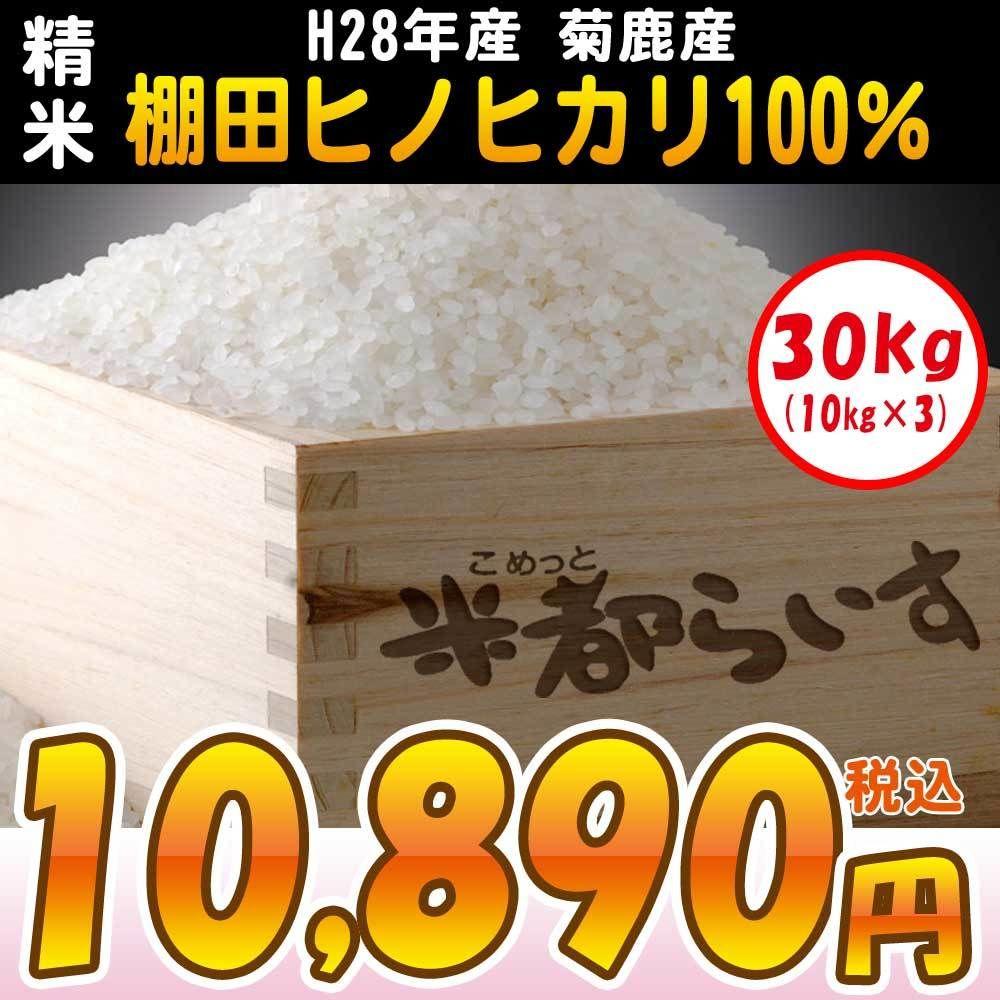 【精米】H28年度産菊鹿の棚田ヒノヒカリ100% 5kg