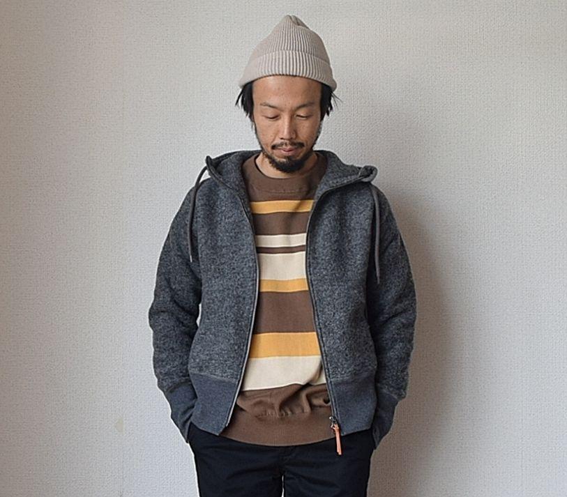 【2017秋冬新作】Re made in tokyo japan CLASSIC WOOL ZIP PARKA CCL クラシック ウール ジップパーカー チャコール