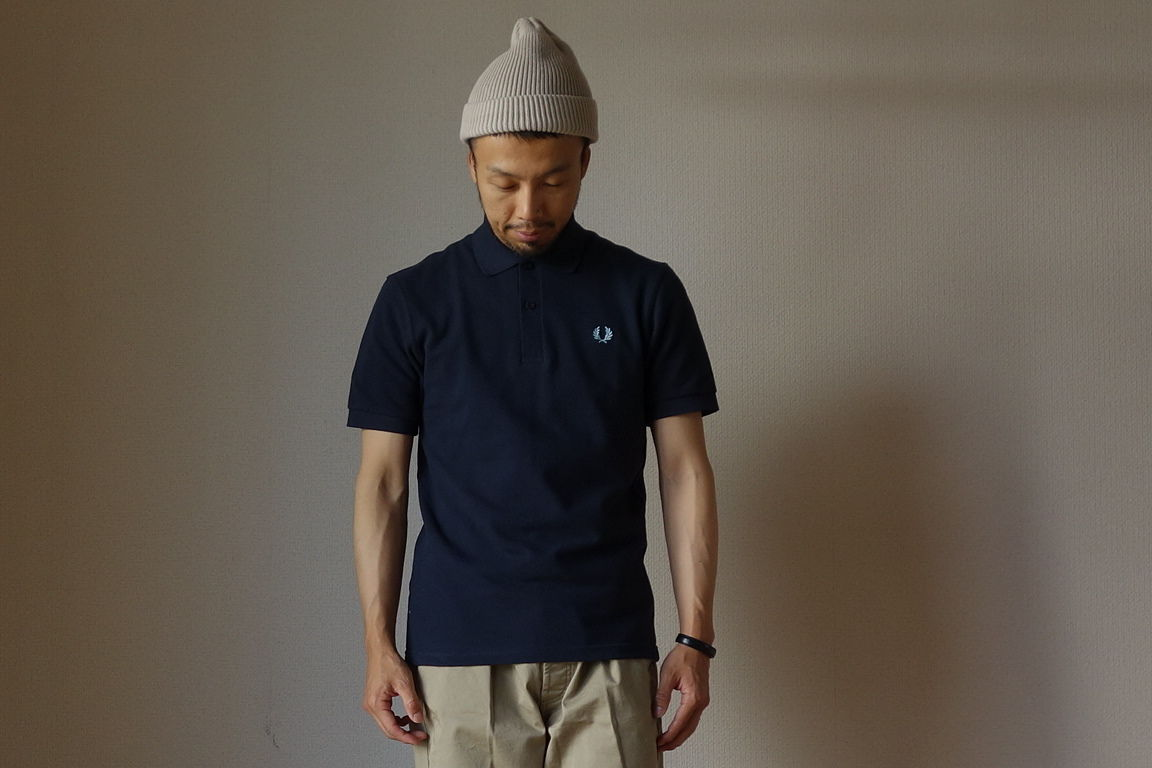 """M3""THE ORIGINAL FREDPERRY SHIRT オリジナル ノーライン ポロシャツ NVY ネイビー 英国製【正規取り扱い品】"