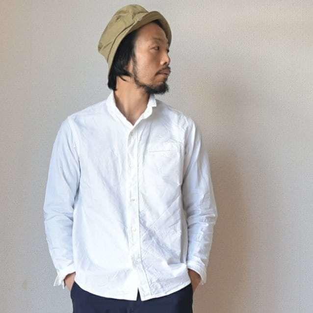 【名作シャツここに復活!】nisica  ニシカ スモールスタンドシャツ ホワイト