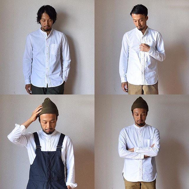 【秋もご用意しました!】MANUAL ALPHABET マニュアルアルファベット プレミアムオックスバンドカラーシャツ ホワイト