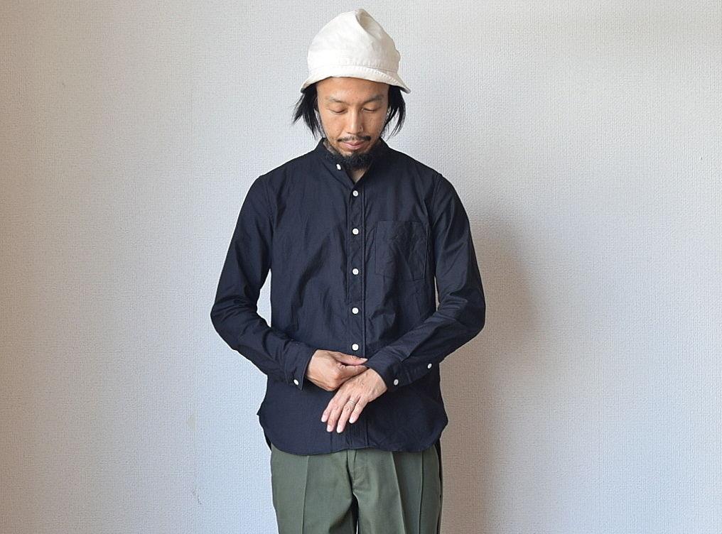 【残り僅か!】MANUAL ALPHABET マニュアルアルファベット プレミアムオックスバンドカラーシャツ ブラック