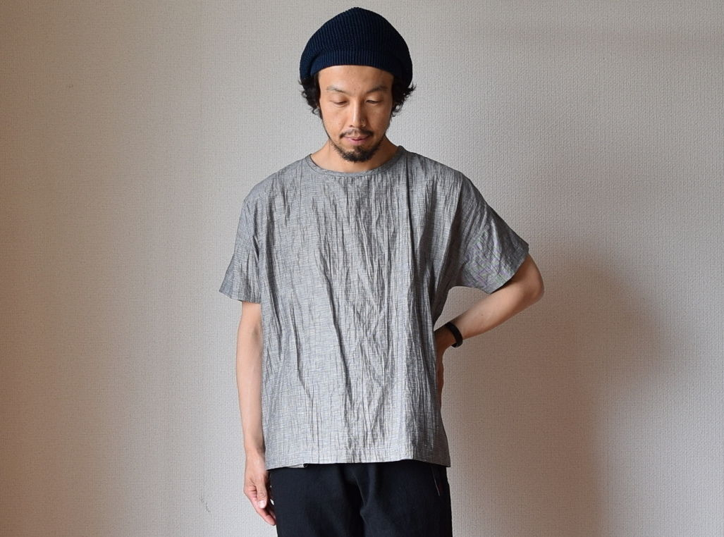 MANUAL ALPHABET LINEN WASHER SHT TEE GRY マニュアルアルファベット リネンワッシャーシャツT グレー
