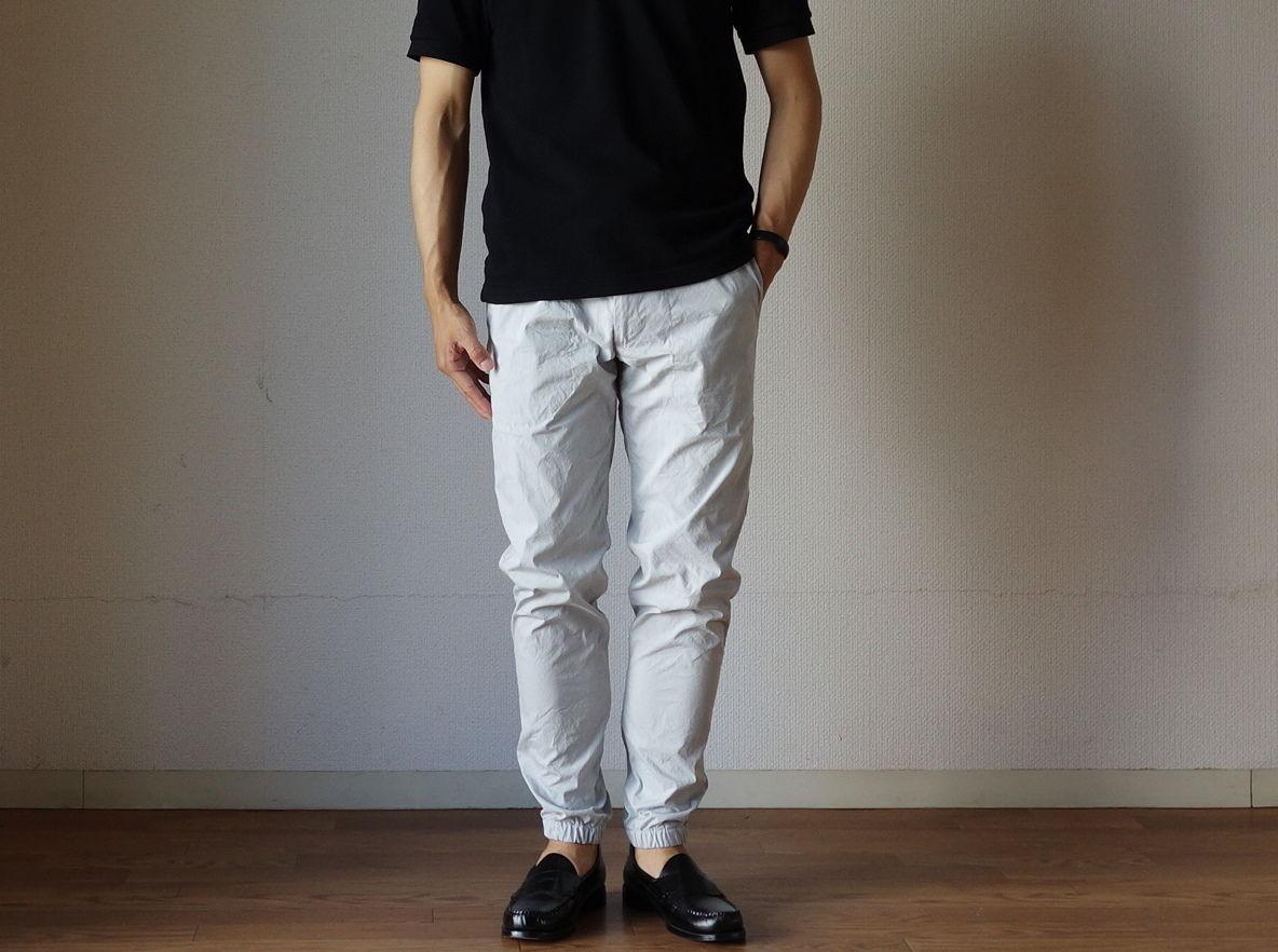 【夏のシャカシャカパンツ!】F.O.B エフオービーファクトリー 0432 JOGGER PANTS  ジョガーパンツ L.GRY ライトグレー