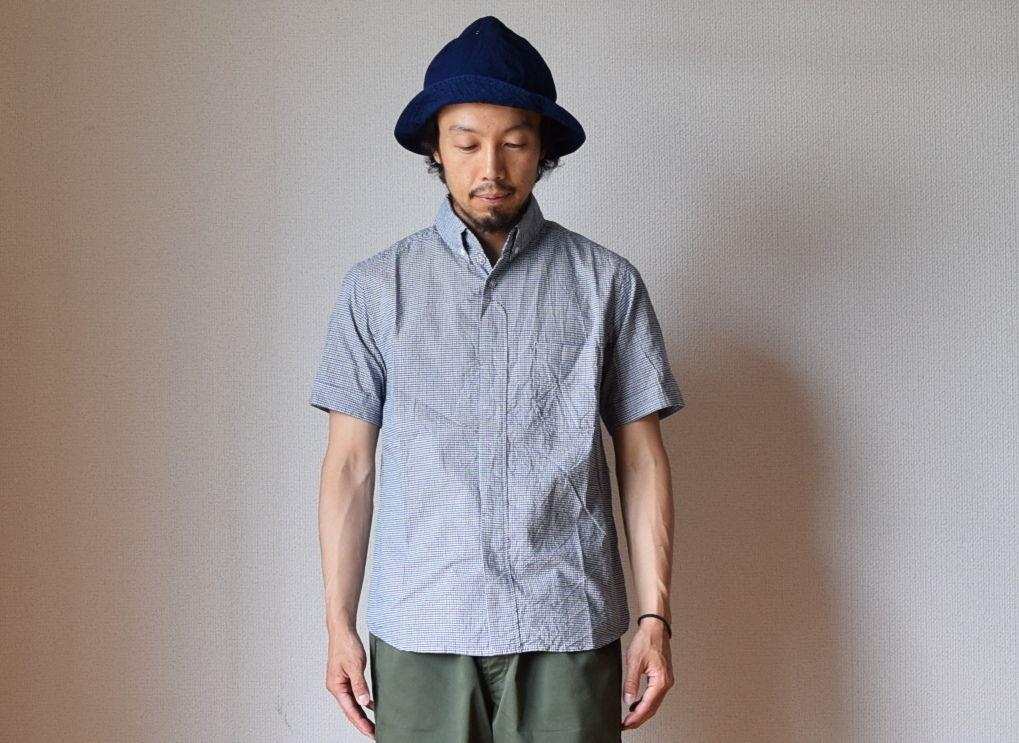nisica S/S B.D SHIRT  ニシカ 半袖ボタンダウンシャツ ギンガムチェック