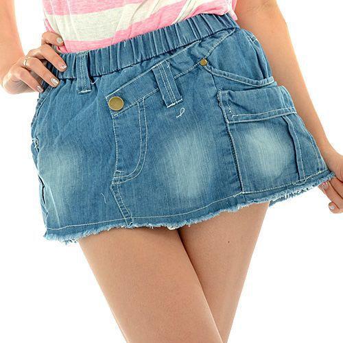 【SALE】デニムスカートINショートパンツ