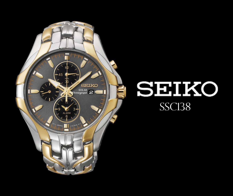 【円高セール】今だけ!セイコー 海外モデル ソーラー 豪華ゴールド 100m防水  腕時計 ギフトに最適!