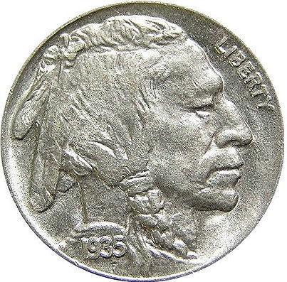 インディアン・ヘッド・バッファロー・5セント硬貨・ペンダントトップ・キーホルダー・携帯ストラップ・根付け アンティークコイン 枠:シルバー925製 硬貨:銅75%、ニッケル25%