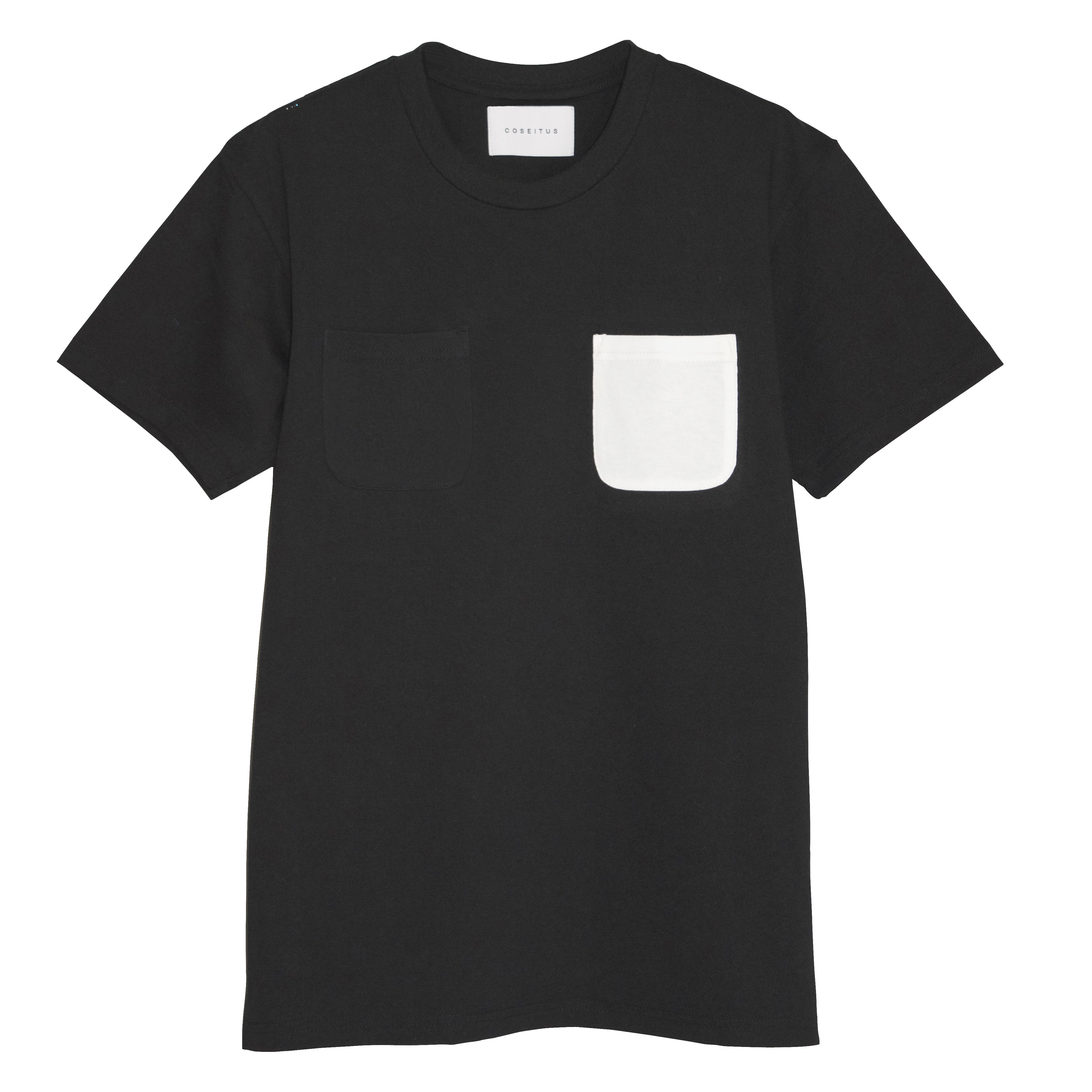 DOUBLE POCKET  T-SHIRTS  BLACK