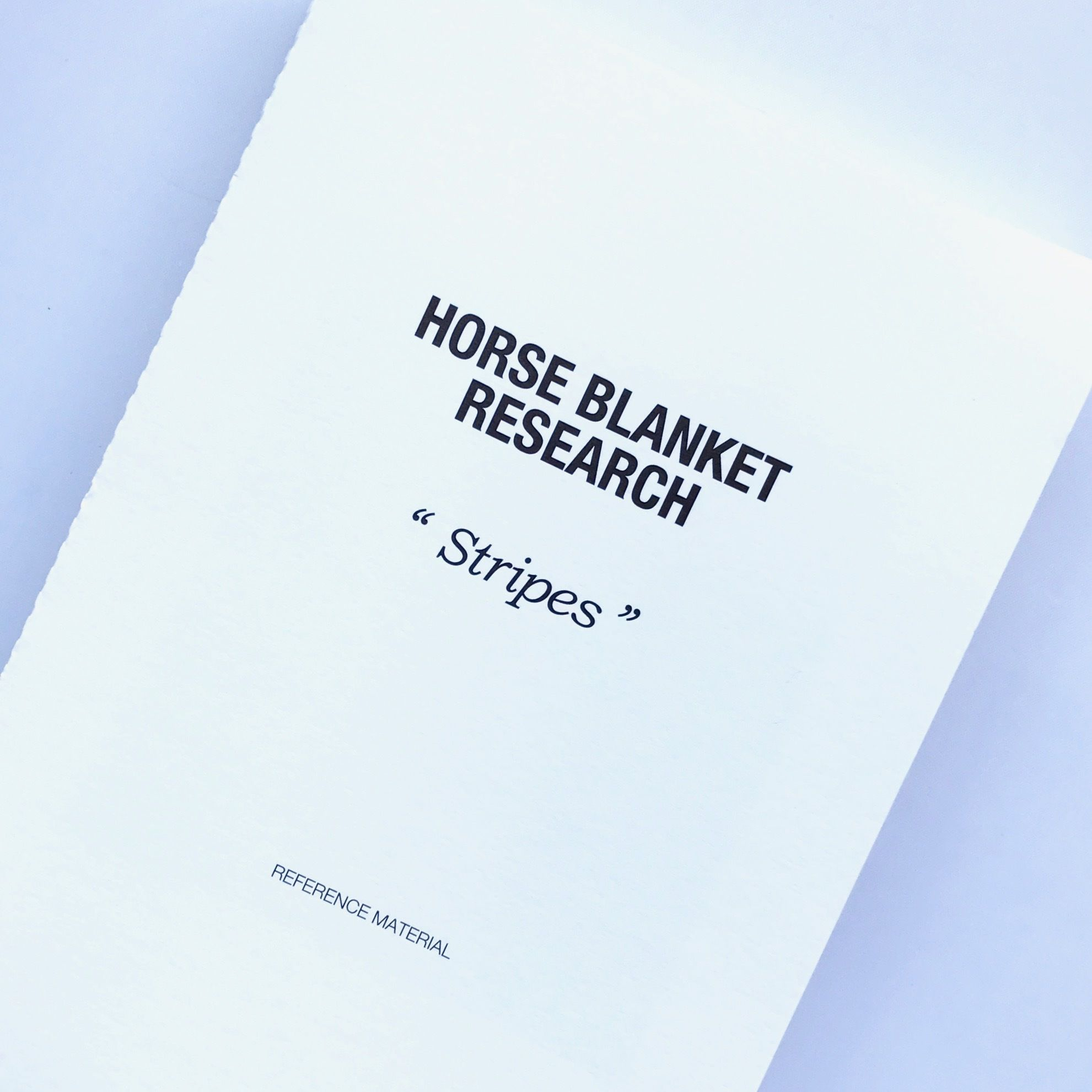 Horse Blanket  Research REFERENCE  MATERIAL