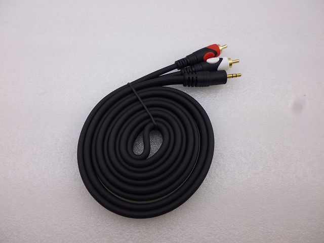 ATV線 RCA-Φ3.5ステレオプラグ L=1.8m (RCA-Φ3.5 STEREO PLUG Cable L=1.8m)