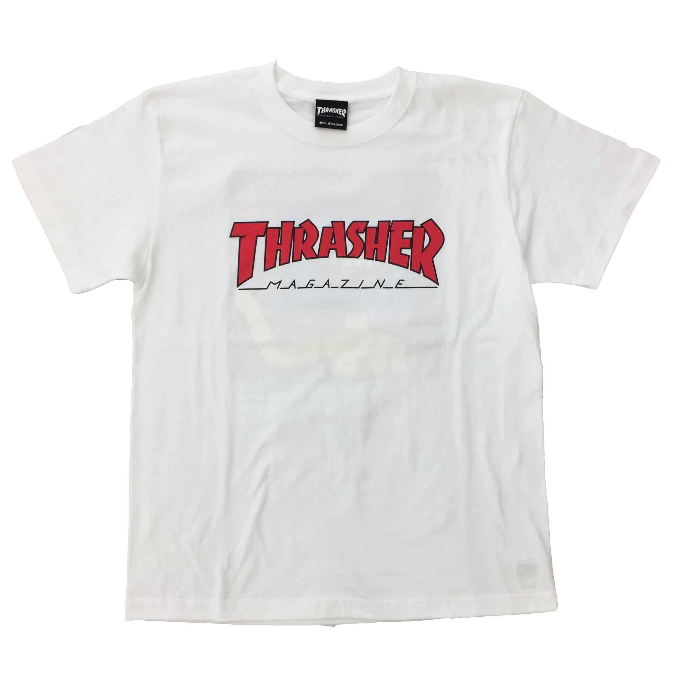 "Keith Haring × THRASHER Unisex T-Shirts ""Skater "" White【KH-041】"