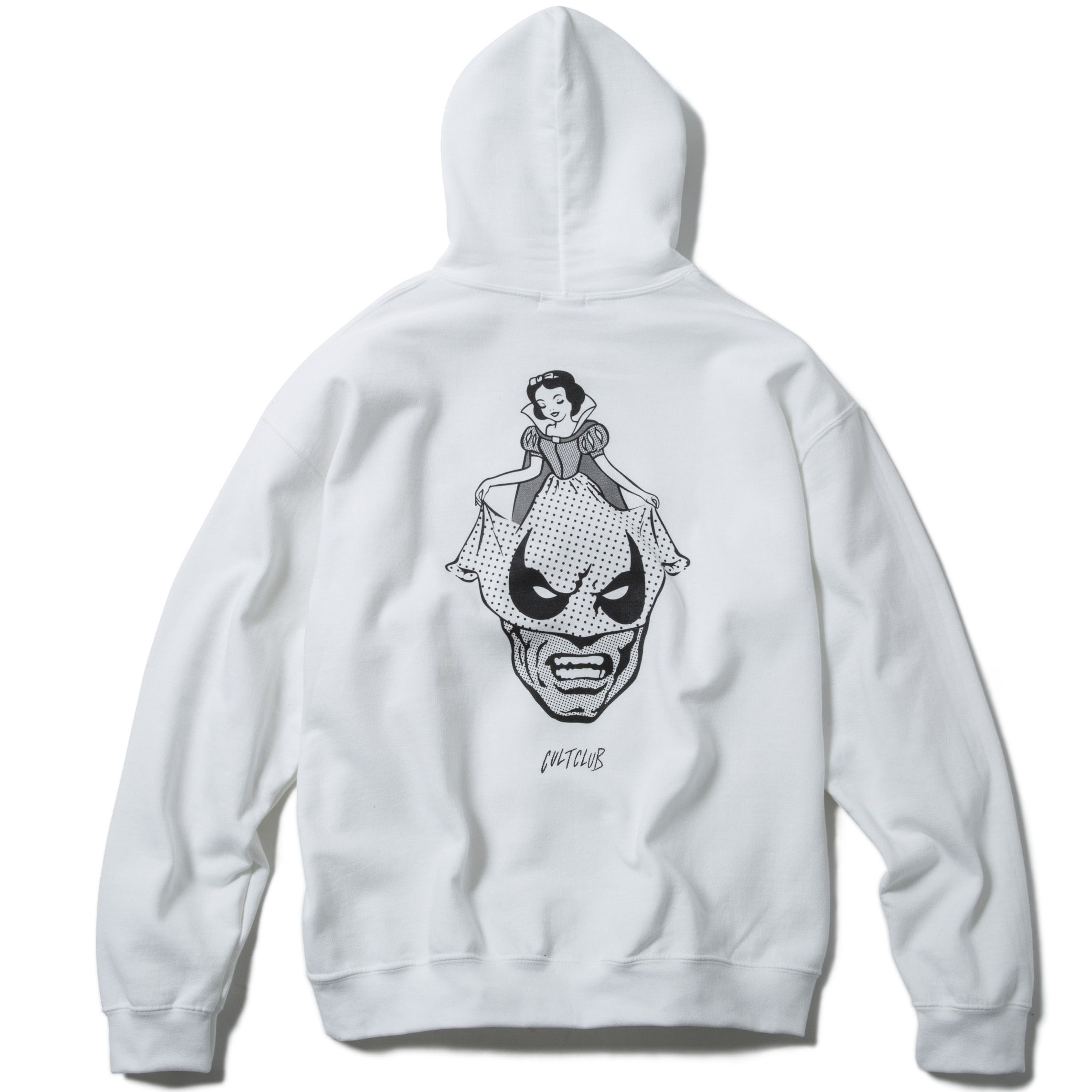 A SUNDAY SMILE HOODY  (WHITE) : ARTWORK by  JEROEN【CC17AW-017】