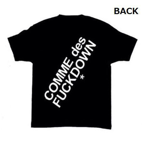 【COMMEdesFUCKDOWN】 ダブルロゴTシャツ