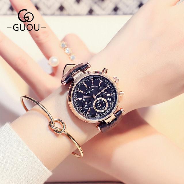 レディース腕時計 本格6針カレンダーつきスポーツウォッチ 防水ファッションウォッチ 海外人気モデル 日本未発売