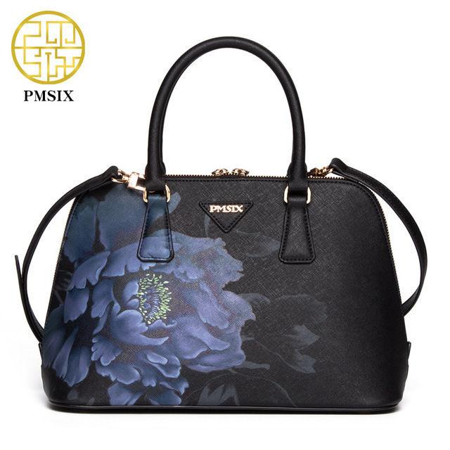 PMSIX レディースハンドバッグ ショルダーバッグ 2wayバッグ ボリードタイプ シノワズリ オリエンタル  和洋折衷デザイン