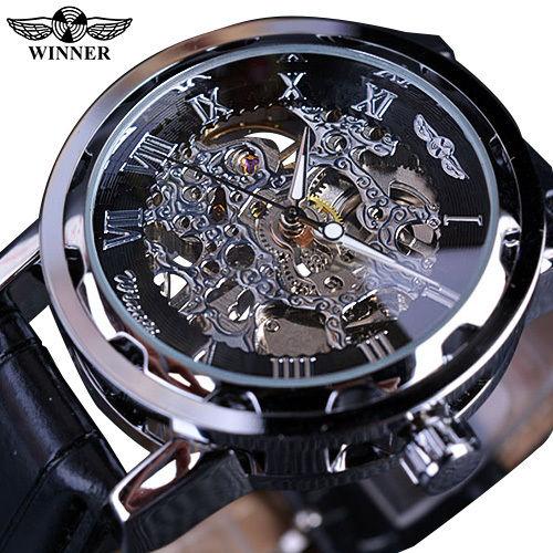 T-WINNER 高級メンズ腕時計 手巻き式 機械式 スケルトン 重厚クラシックシリーズ スチームパンク レトロクラシック