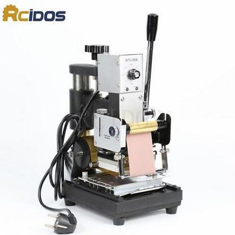 箔押し機 ホットスタンプ 焼き印 レザークラフト 卓上  ハンドクラフト 革製品加工