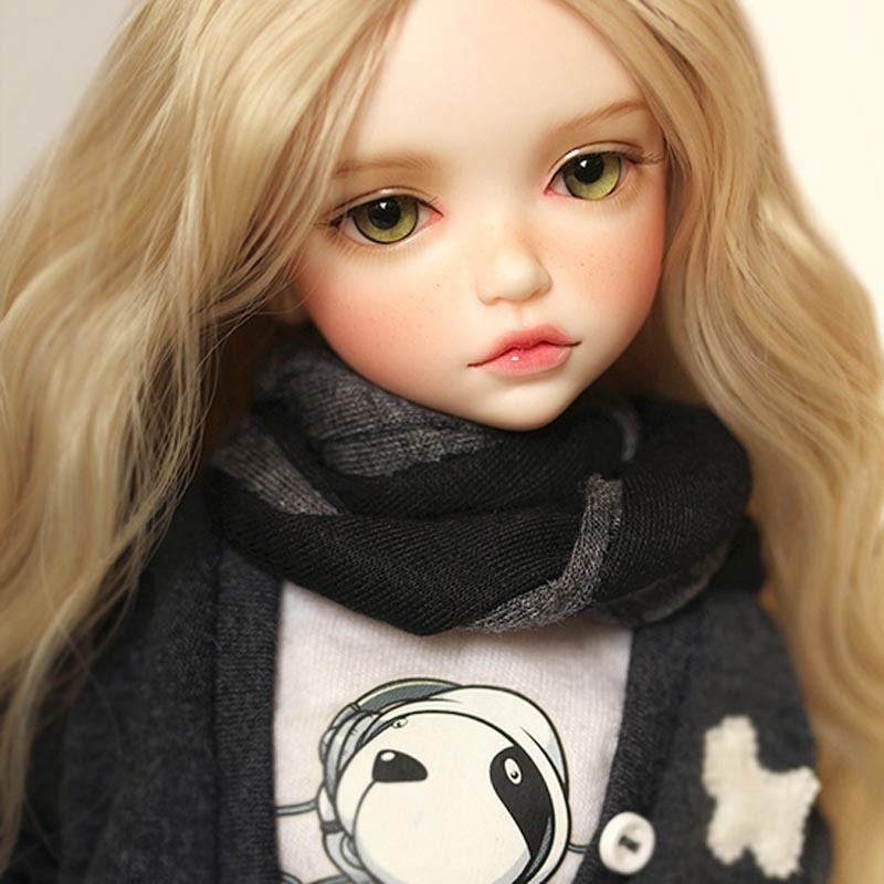 球体関節人形 BJD 本体+眼球(サービス)+メイクアップ済 そばかす 1/6 34.5cm 海外カスタムドール 女の子 かわいい プリンセスドール 幼SDサイズ SD MSD 好きな方にも Ln1
