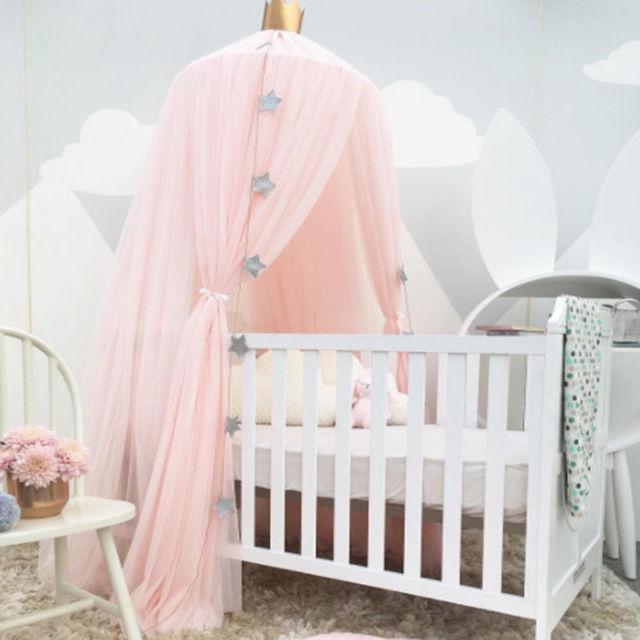 キッズルーム 天蓋 キャノピー 蚊帳 テント ベビーベッドに ミニカーテン 子供部屋 おしゃれロマンチック インスタ映え ピンク お姫様