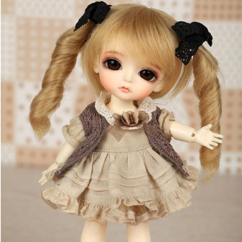球体関節人形 BJD 本体+眼球+ウィッグ+メイクアップ済 1/8 創作着せ替え人形 カスタムドール 可愛い 美少女 美しい 海外 ミニ リアル