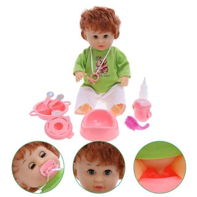 赤ちゃん人形 お世話セット スプーンでお食事 哺乳瓶 おしゃぶり 抱き人形 かわいいベビー人形 知育玩具 おままごと プレゼント 男の子 女の子 リボーンドール