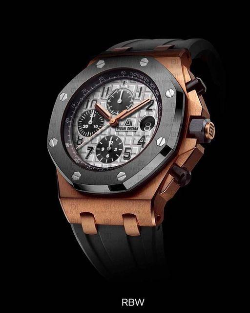 DIDUN DESIGN メンズ腕時計 クオーツ クロノグラフ ラバーバンド 日本製ムーブメント 防水 サファイアガラス風防 RG 海外人気ブランド 日本未発売モデル